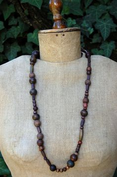 BASIC Plain Wooden Beads Necklace by luushes on Etsy