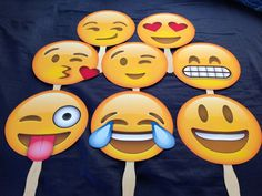Emoji on a Stick Smiley Emoji Party Photobooth Prop by SnapProps