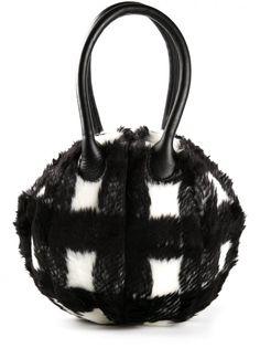 G.V.G.V. - Furry Handbag - GV1435005 BLACK - H. Lorenzo