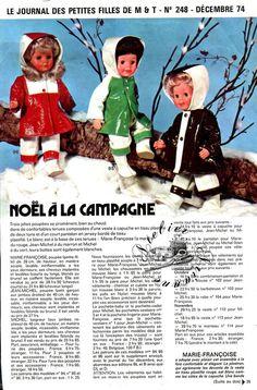 ❤ Page originale Poupée Michel, Marie Françoise MODES ET TRAVAUX Décembre 1974 ❤ : 1,99 EUR