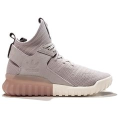 Adidas Tubular X Primeknit 'Granite' ($170) ❤ liked on Polyvore featuring shoes and sneakers