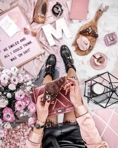 Flatlays, Fashion & Travel (@thestylevisitor) on Instagram #pink #flatlay #pretty