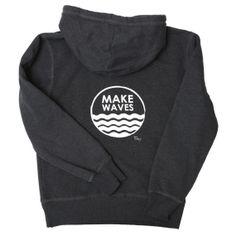 Make Waves Hoodie - Charcoal Grey