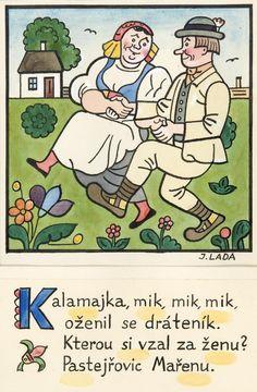 Kalamajka – Kalamajka, mik, mik, mik, 1913 First Novel, World War One, Surface Pattern Design, Folklore, Cottages, Illustrators, Clip Art, Cartoon, Education
