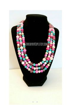 Hey, I found this really awesome Etsy listing at https://www.etsy.com/listing/250543356/hot-pink-necklacestatement