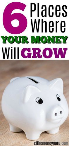 Do you want your money to grow and work hard for you? So that it can grow exponentially and before you know it $1 dollar can grow to $1 million dollars with enough time. Of course you do.  I've listed the 6 places where your money will grow and grow. #growmoney #money #makemoney #makemoremoney #moneymaker #cash #morecash #moneymachine Saving Ideas, Money Saving Tips, Money Tips, Money Budget, Insurance Business, Life Insurance, Financial Tips, Financial Literacy, Financial Planning