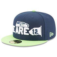 best website 38525 33103 Seattle Seahawks New Era 2018 NFL Draft Spotlight 59FIFTY Fitted Hat –  Navy Neon Green