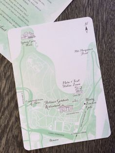 Wedding Invitations featuring an iIllustrated map - all part of the service #weddinginvites #mint #watercolour