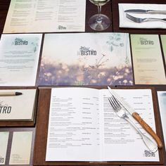 Print collateral designed by Neon Zoo for Newcastle restaurant, The Bistro.