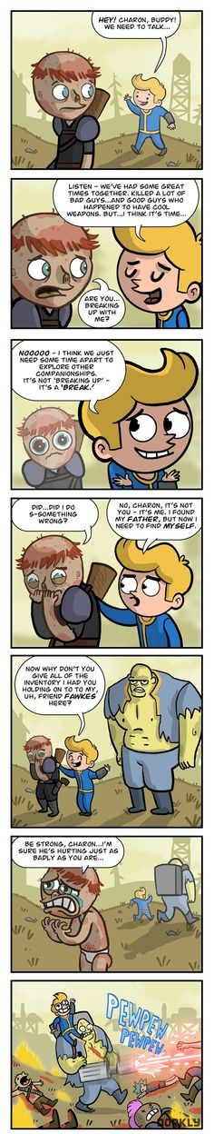 """Fallout Companion Break-Up"" #dorkly #geek #fallout"