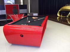 Inspirations & Ideas, Billiard Tables Home Design Ideas Interior Room Tips Table Colored Red And Black With A Luxurious And Modern Models: Astonishing Billiard Table Designs with a Luxury Views