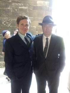 Endeavour filming at Exeter College July 29, 2015