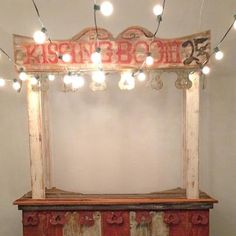 Perfect for Theme Wedding- vintage Kissing Booth- great dessert bar, bar or just plain old smooching booth <3 <3