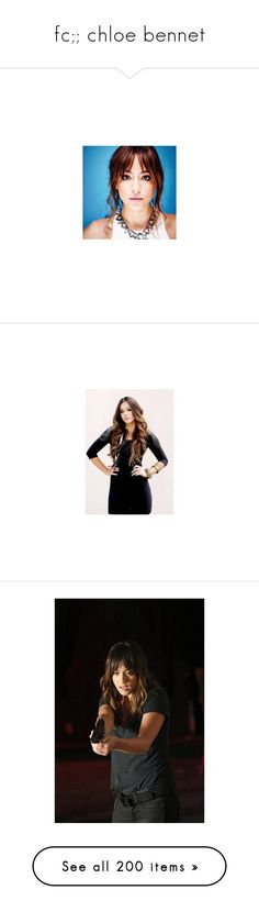 """""""fc;; chloe bennet"""" by andsunshine ❤ liked on Polyvore featuring faceclaim, chloebennet, chloe bennet, home, home decor, marvel, agents of shield, people, shield and black and white"""