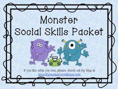 Monster Social Skills Packet | speechymusings
