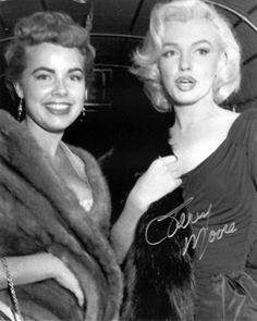 Marilyn Monroe and Terry Moore at the Red Book Magazine Awards dinner, 1953.