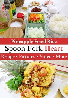 Fried Chicken with Rice ข้าวมันไก่ทอด - Episode 101 — Home Stir Fry Recipes, Thai Recipes, Curry Recipes, Seafood Recipes, Appetizer Recipes, Chicken Recipes, Chicken Rice, Fried Chicken, Pineapple Fried Rice