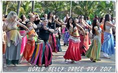 Gwen from Belly Button Dance Studio dancing for World Belly Dance Day, 12 May 2012