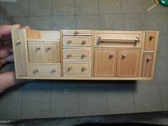 ミニチュアドールハウス家具 カントリーキッチン前編Miniature dollhouse furniture Country kitchen (the first part) - YouTube