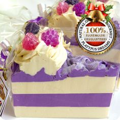 Black Raspberry and Vanilla Soap Cake Slice - 250-290g.  This website has some of the most amazing soaps we have ever seen.