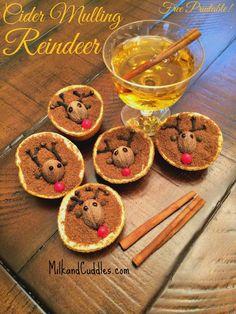 Cider Mulling Reindeer {Free Printable!} | Milk & Cuddles #HandmadeHoliday