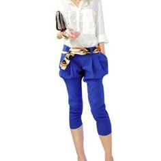 royal blue capri pants - Pi Pants
