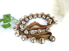 Sleigh Bells On Leather Buckle Strap  Horse Sleigh by atopdrawer, $150.00
