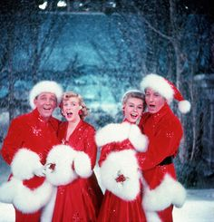 Bing Crosy, Rosemary Clooney, Vera-Ellen and Danny Kaye in White Christmas, 1954