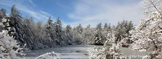 Hidden Lake in winter at Camp ‪#‎Yawgoog‬!  Image by David R. Brierley.