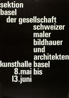 Poster by Emil Ruder