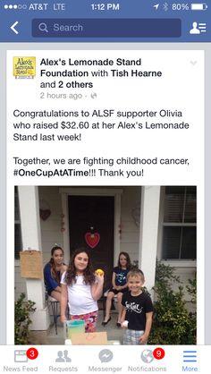 Alex's Lemonade Stand - Fundraiser Story Childhood Cancer, Non Profit, Lemonade, Fundraising, Charity, Congratulations, Foundation, Facebook, Foundation Series