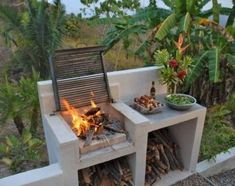 Barbeque Design, Grill Design, Barbecue Grill, Pit Bbq, Backyard Patio, Backyard Landscaping, Landscaping Ideas, Patio Ideas, Backyard Ideas