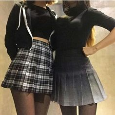 Pretty outfit idea to copy ♥ For more inspiration join our group Amazing Things ♥ You might also like these related products: - Skirts ->. Grunge Outfits, Edgy Outfits, Grunge Fashion, Skirt Outfits, Fashion Outfits, Tennis Skirts, Tennis Clothes, Tennis Outfits, Ulzzang Fashion