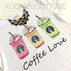 🔥SALE Coffee love frappe chic tee Fun, comfy & chic!  This new and amazing line carried by Xochic Boutique!  Hand selected By me for you! Carrying sizes up to 4XL.  Sizes do run small, please see pictures for sizing!  🔴Price firm unless bundled🔴  If I don't have your size, please let me know and I can order your size with my next order. 100% polyester. Made in Mexico. Hand wash. New retail without tags. Xochic boutique Tops Tees - Short Sleeve