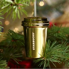 Starbucks® 2012 Holiday Ornament - Gold Cup.