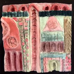 Khushi P. Grade 8 - Architecture Clay Tile Relief