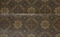 printed linoleum found in doorway to an Australian drawing room Antique Wallpaper, Museum Collection, Drawing Room, Doorway, Fixer Upper, 1920s, Mosaic, Victorian, Textiles