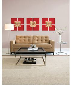 Add a splash of patriotic sass with WallPops peel and stick wall art! These Red Hot and Carnivale blox look great year round! #walldecals  #wallart  #peelandstick  #WallPops  #wallstickers  #decor  #DIY  #decorating