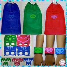 Pj Masks Costume, Costumes, Festa Pj Masks, Mask Party, Kit, Beach Party, Party Themes, Birthday Parties, My Style