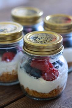 Mascarpone Pots with Fresh Berries (and cookie bottom).  So simple and delicious.  And sweet.
