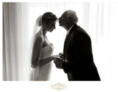 Precious Father and Daughter moment before walking down the aisle.  Aruba Destination Wedding photos by Ron Soliman Photojournalism