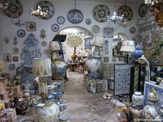 A Lisbon, Portugal ceramic pottery and tile  shop. Artisans of Leisure - Slideshow - Portugal