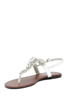 Charles Albert Rhinestone Trim Sandal by Mad About Shoes on @HauteLook