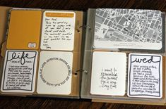 Scrapbook on the Road using Story Cards and other digital elements.