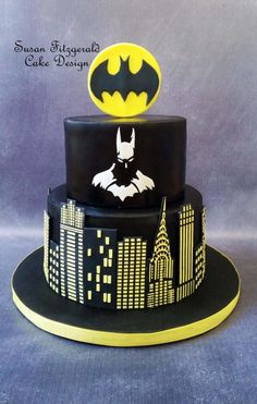Batman Cake by SusanFitzgeraldCakes