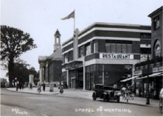 Chapel Road Worthing 1938 - where BlockBusters is