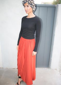 Pinched Sunset Skirt available at Mode-sty #nolayering