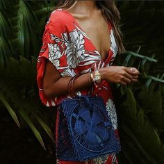 Lulunina Casual Sexy Deep V Neck Floral Print Maxi Dress Casual Dresses, Maxi Dresses, Trendy Dresses, Long Dresses, Floral Print Maxi Dress, Vacation Dresses, Fashion Seasons, Maxi Dress With Sleeves, Dress Brands