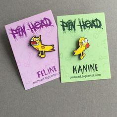Feline-Kanine Cat-Dog Pin - $10.00  http://pinhead.bigcartel.com/product/feline-kanine