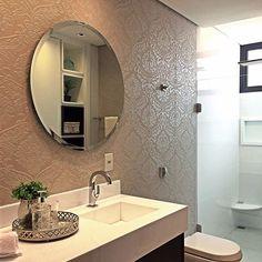 Quando o revestimento é tudo! Touch Decor Prosecco por @arquiteto_igorcossalter. ✨ . #revestimento #revestimentosespeciais #azulejo #tile #banheiro #bathroom #interiores #interiordesign #luxo #decortiles